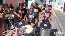 Se defiende la batucada en las Fiestas de la Calle San Sebastián