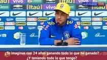 (Video) Neymar a periodista: '¿Por qué no puedo salir de fiesta?'