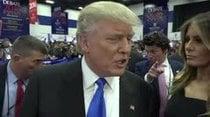 (Video) Trump asegura que evitó mencionar 'indiscreciones' de Bill Clinton
