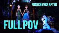 Frozen Ever After low light ride-through POV in Norway Pavilion at Epcot