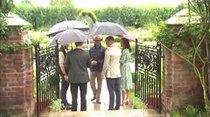 Guillermo y Enrique visitan el jardín de su madre