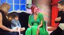 Zuleyka comparte con su familia en el show de Raymond