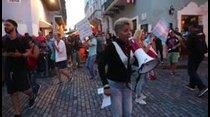 Cuarto día de manifestaciones frente a La Fortaleza pidiendo la renuncia de Wanda Vázquez