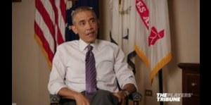 Derek Jeter conversa con Barack Obama