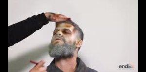 Hombre se transforma en escalofriante zombi