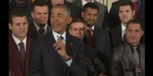 """Obama: """"Bienvenidos a la Casablanca, Chicago Cubs"""""""