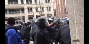 Protesta contra Donald Trump termina en violencia