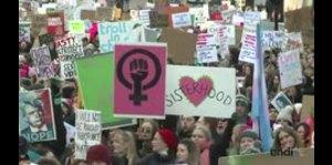 Marcha de las Mujeres contra las políticas de Trump