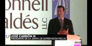 José Carrión asegura que es impactante la deuda de Puerto...