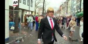 Populares los disfraces de Trump en el carnaval de Colonia