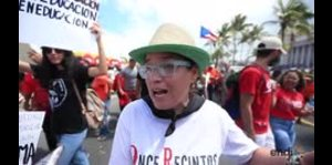 Carmen Yulín Cruz se une a la protesta estudiantil