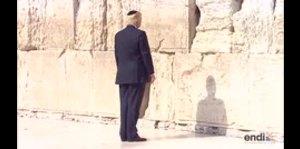 Donald Trump visita el Muro de los Lamentos