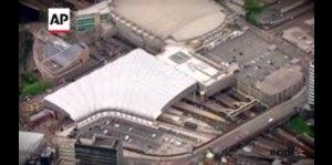 Vista aérea del Manchester Arena luego del atentado
