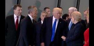 El empujón que dio Trump al líder de Montenegro del que t...