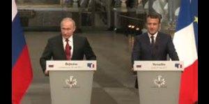 Macron y Putin miden fuerzas en su primer encuentro