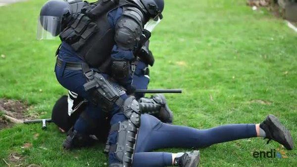 Protestas de jóvenes contra violencia polici...
