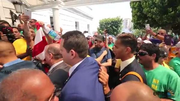 Momentos de gran tensión en el Capitolio