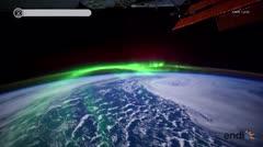 Espectaculares imágenes de una aurora boreal