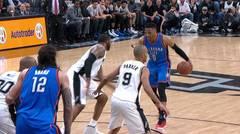 Kevin Durant se luce ante los Spurs