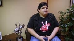 Christopher Rivera feliz con su triunfo en la Voz Kids