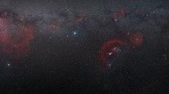 Nubes de estrellas en la constelación de Orión