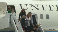 Trump y su familia llegan a Washington DC