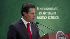 """Peña Nieto a Trump: """"Ni confrontación ni sumisión"""""""