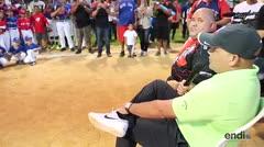 Iván Rodríguez participa de clínicas de béisbol en el pueblo que lo vio crecer