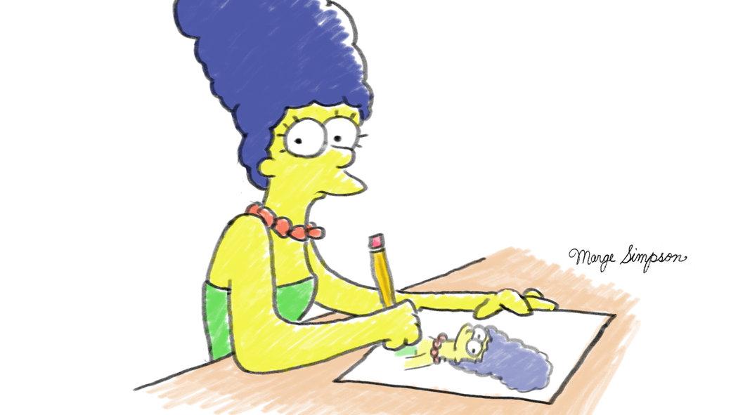 La entrevista ilustrada con Marge Simpson