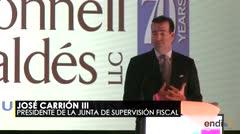 José Carrión asegura que es impactante la deuda de Puerto Rico