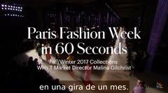 La Semana de la Moda de París en 60 segundos
