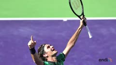 Federer conquistó su quinto Indian Wells
