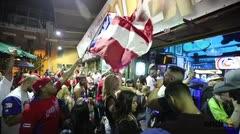 Celebran el triunfo de Puerto Rico en la Placita de Santurce