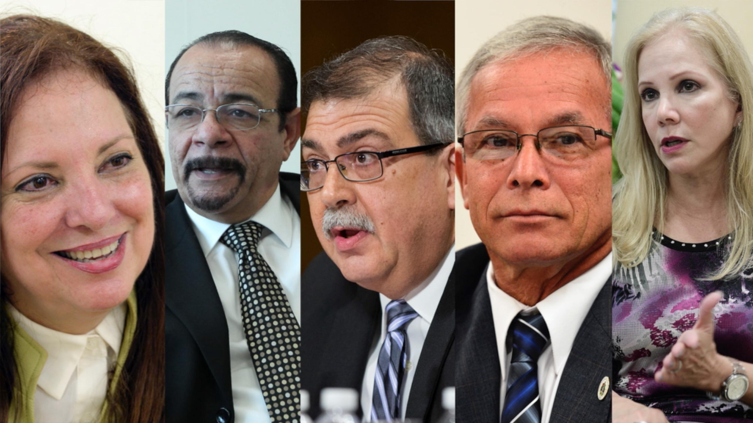 Los cinco catedráticos que aspiran a las presidencia de la UPR