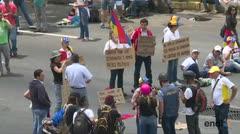 Comienza el 'plantón' opositor en Venezuela