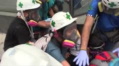 La 'Cruz Verde' que actúa en las protestas de Venezuela