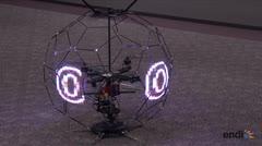 Presentan un espectacular dron esférico