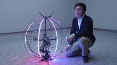 Presentan un prototipo de un dron esférico en Japón
