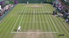 Tenista estadounidense se lastima la rodilla en Wibledon