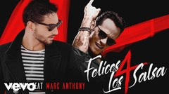 "Maluma junto a Marc Anthony: ""Felices los 4"""