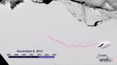 Así es el iceberg gigantesco que se formó en la Antártida