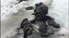 Emergen de un glaciar cuerpos sin vida, congelados y preservados de forma intacta