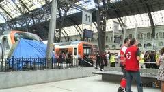El accidente de un tren en Barcelona deja 54 heridos