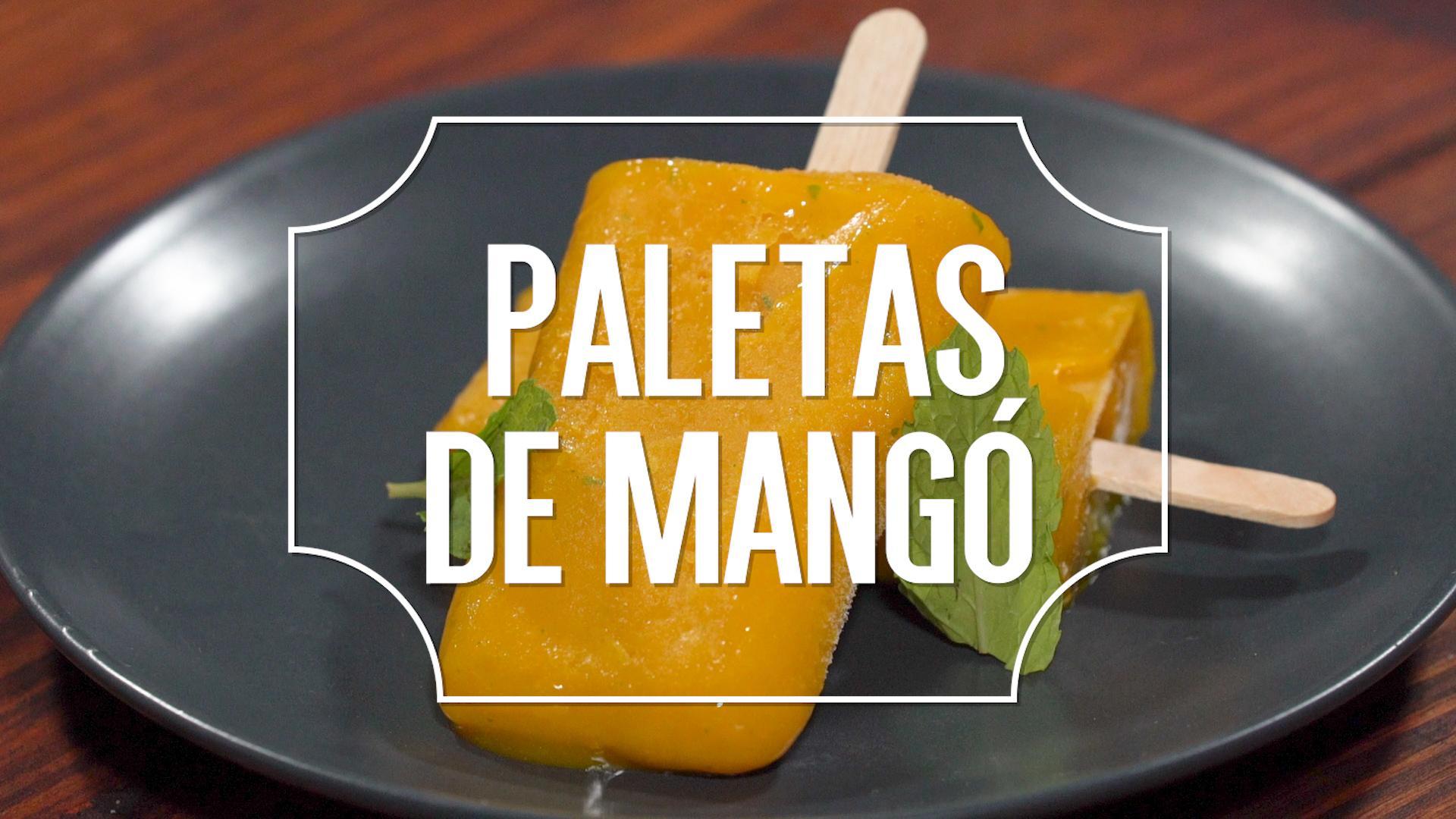 Receta del día: paletas de mangó