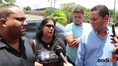 Ángel Pérez y su familia llegan al Instituto de Ciencias Forenses