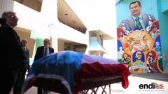 El cuerpo de Tuto Marchand llega al Coliseo Roberto Clemente