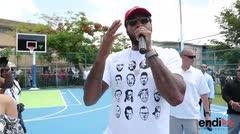La fundación de Carmelo Anthony rehabilita una cancha en Cataño