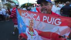 Celebran la gesta olímpica de Mónica Puig en La Placita