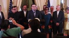 El gobernador recibe a la Fania All Stars en La Fortaleza