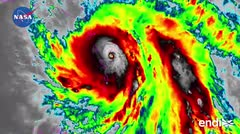 Impresionante transición del huracán María
